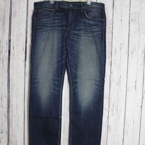 Hudson Byron Straight Mens Jeans Dark Wash